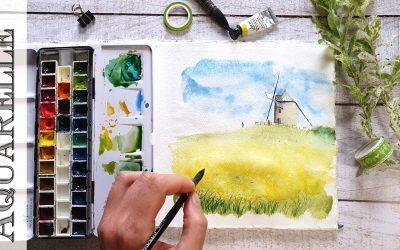 S'initier aux techniques de l'aquarelle avec du matériel adapté